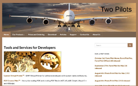 We Changed To A New Design Two Pilots Useful Software For Everyday Needs