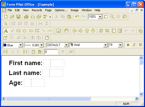Open a document in Form Pilot Office