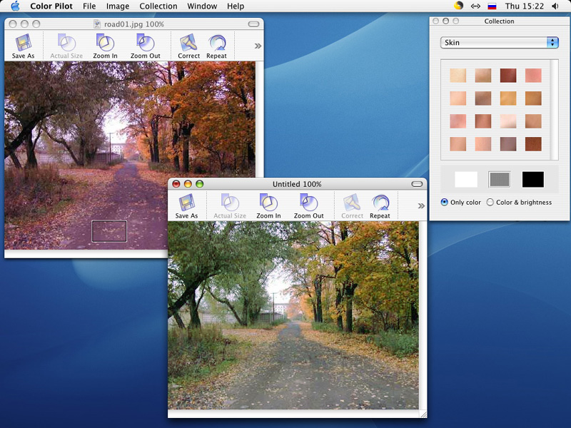 Software for quick and easy color correction
