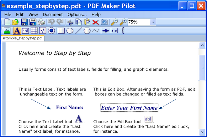 Click to view PDF Maker Pilot 2.3.1046 screenshot