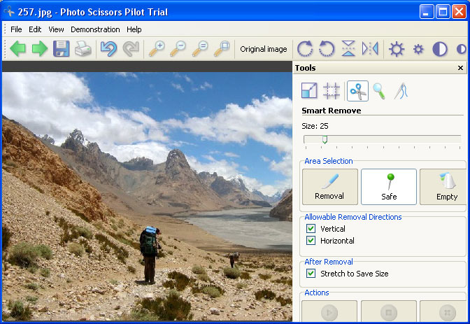 Click to view Photo Scissors Pilot 1.1 screenshot